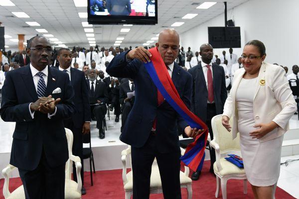 Michel Martelly prononce son discours d'adieu
