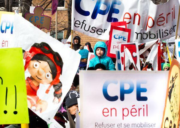 Grandes manifestations pour les CPE