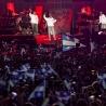 Le spectacle de la Fête nationale sur les Plaines, à Québec. Loco Locass était parmi les invités.