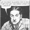 Séraphin, le père Ovide, le notaire LePotiron et Donalda: quelques-uns des personnages de Claude-Henri Grignon tels qu'incarnés dans la bande dessinée d'Albert Chartier. <br />