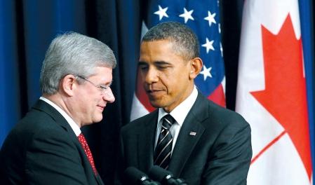 Le premier ministre canadien et le président américain ont multiplié les politesses hier, s'adressant la parole à coups de «Stephen» et de «Barack».<br />