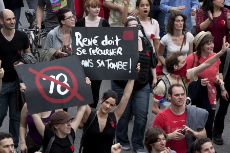 Aucune estimation de foule n'était disponible vers 17 h, mais ils sont assurément plusieurs dizaines de milliers de personnes à avoir défilé dans les rues de Montréal.