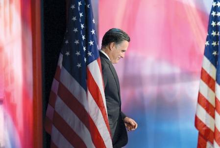 Mitt Romney a marqué une pause, mardi soir, avant de s'adresser à ses partisans pour concéder l'élection présidentielle à son adversaire démocrate, Barack Obama.