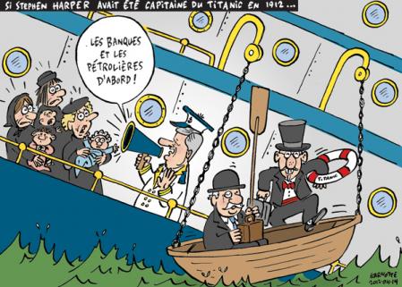 Cartoon from Le Devoir ...