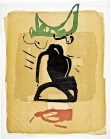 Égyptienne 3, de Francine Simonin (1994, bois gravé).