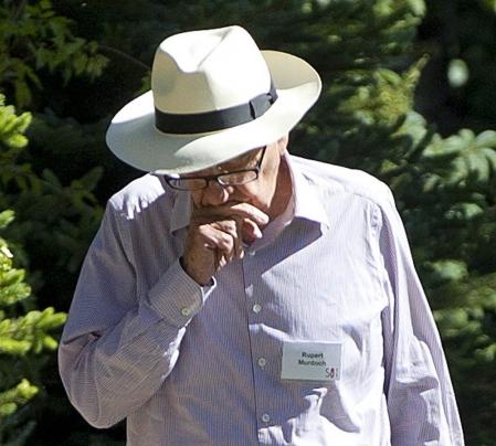 Rupert Murdoch aujourd'hui à Sun Valley dans l'Idaho (nord-ouest des États-Unis), où il participait à une conférence sur les médias.
