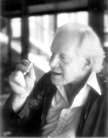Pierre Bourgault en 1983, deux ans après sa démission du Parti québécois<br />