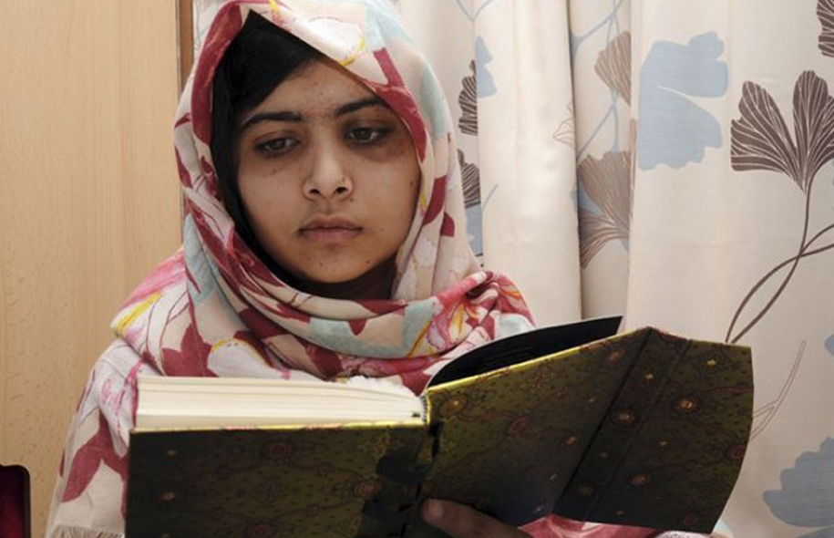 Malala Yousafzai au Queen Elizabeth Hospital deBirmingham
